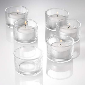 FREE - Tea-light glass candle holders x 12