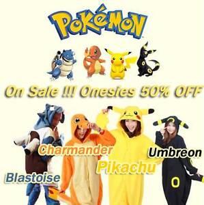 Pokemon Onesie Pikachu Charmander Blastoise  Umbreon Costume North Melbourne Melbourne City Preview
