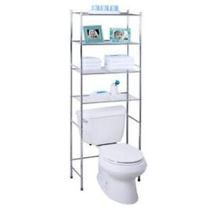 New Honey-Can-Do 4-Tier Metal Bathroom Shelf Space Saver, PICKUP ONLY - DI6