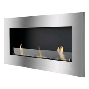 Ethanol Fireplace with front glass