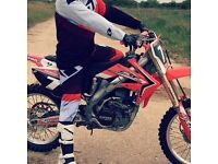 Crf250r twin pipe motocross bike