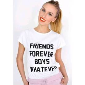 "T-shirt "" Friends Forever Boys Whatever"""