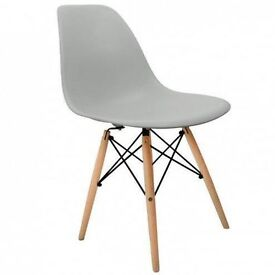 New, Modern, Light Grey Chairs