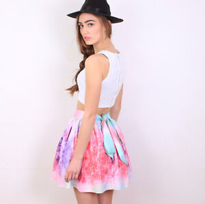 **BRAND NEW** Multi Color Girly Galaxy Flared Skirt Cambridge Kitchener Area image 1