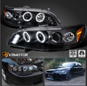 LED+Halo Projector Headlights 1998-2002 Honda Accord