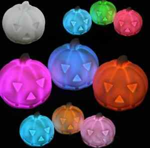 Wholesale 10pcs LED 7-color changing Pumpkin night light lamp Halloween Party