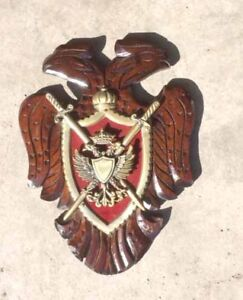 """2 headed eagle """"coat of arms"""" wall hanging"""