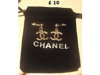 CC Earrings Michael Kors MK Silver Bracelet In Gift Pouch