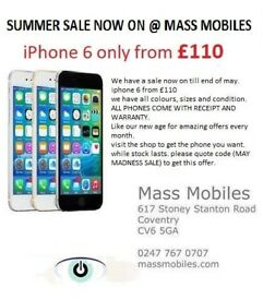 i phone 6 only from £110 mint condition unlocked