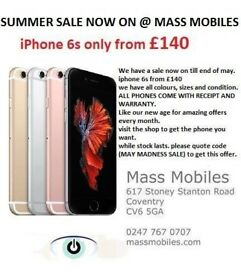 i phone 6s clearing summer sale!