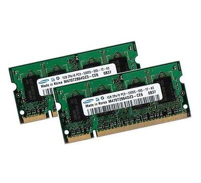 2x 1GB 2GB RAM SAMSUNG Speicher MSI Megabook L740 L745 M660 DDR2...