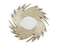 Striking Mirror - Champagne Sunburst Swirl Mirror