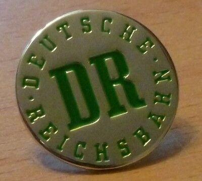 Pin/ Anstecker DR Deutsche Reichsbahn grün/ silber 2cm