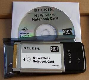 BELKIN N1 Wireless N Notebook MIMO 802.11n Card F5D8011