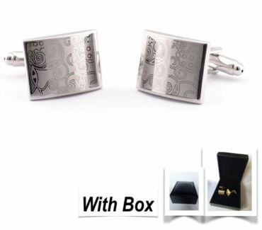NEW High Quality Mens Handmade Figured Steel Cufflinks With Box Wembley Cambridge Area Preview