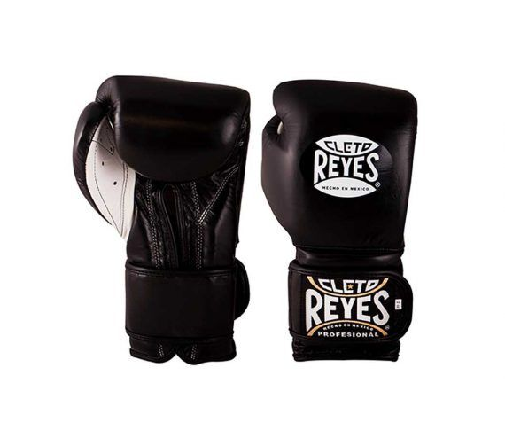 CLETO REYES *FREE Boxing Gloves Leather Wrap Around Sparring Blue Training