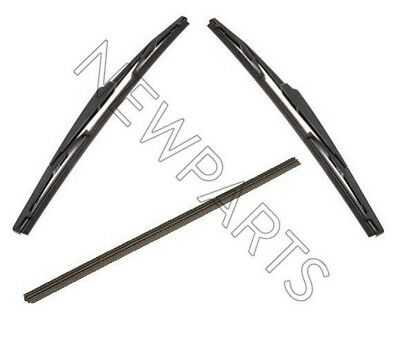 For Toyota 4Runner 04-09 Front Wiper Inserts U-Hooks & Rear Wiper Refill OES