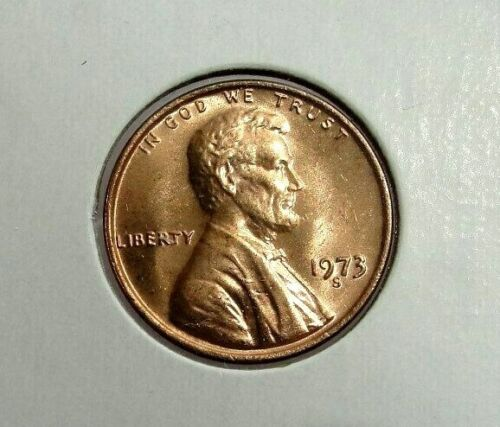 1973 S  LINCOLN MEMORIAL CENT BEAUTIFUL RED BRILLIANT UNCIRCULATED ( BU )