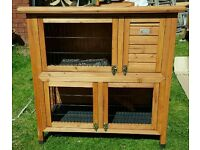 Double Decker Rabbit / Guinea Pig Hutch with Cover