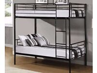 Metal Frame SINGLE BUNK bed Frame 3ft kids or adults ! Convertible as 2 Single Beds-