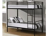 METAL BUNK BED WITH DIFFERENT QUALITIES OF MATTRESS SINGLE BOTTOM SINGLE TOP