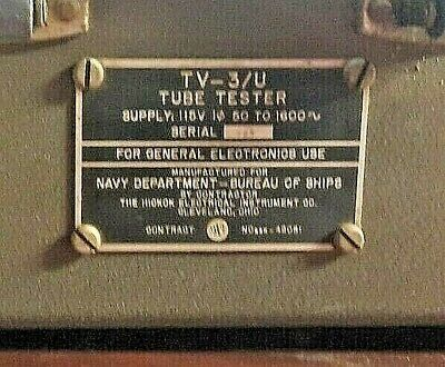 Tv-3u Gsm Vacuum Tube Tester. Excellent Condition