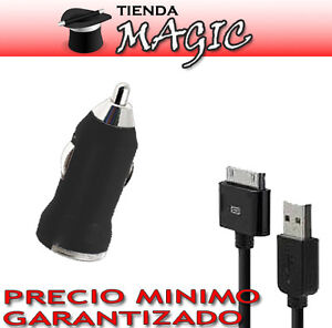 Cargador-iPhone-4-3-MECHERO-COCHE-CABLE-DE-DATOS-negro-OFERTA-LANZAMIENTO