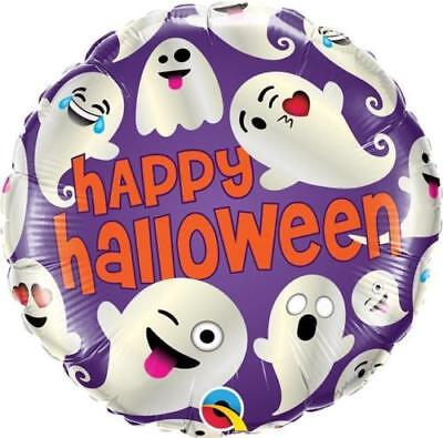 Ghostly Emoticon Themed Foil Balloon (Happy Halloween 18)