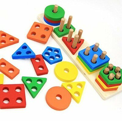 Wooden Educational Preschool Toddler Toys For 1 2 3 4 5 Year Old Boys Girls Shap