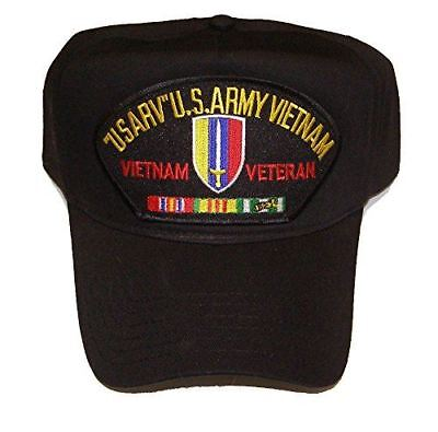 Us Army Republic Of Vietnam Usarv Veteran W  Service Ribbons Hat Cap Long Binh