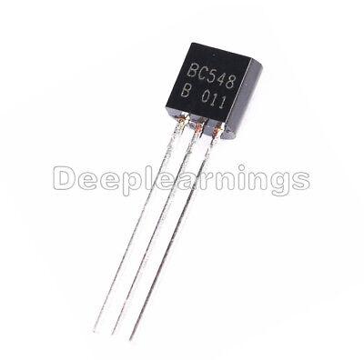 100pcs To-92 Bc548 Npn 30v 0.1a Transistor