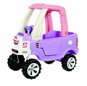little tikes princess cozy ride on truck kids push handle ride on car. Black Bedroom Furniture Sets. Home Design Ideas