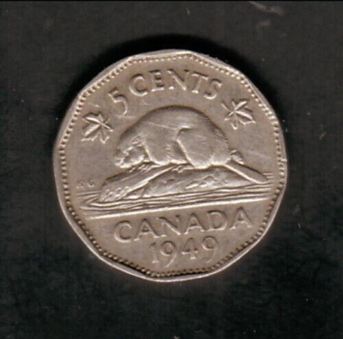 Canada--1949--5 Cents--King George VI/Beaver