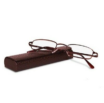 Classic Spring Hinged Reading Glass with Leather Case