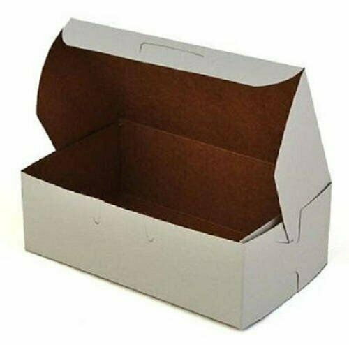 50 ct. White Small Bakery Boxes Mini Eclair Box Party Favors  - Made in USA