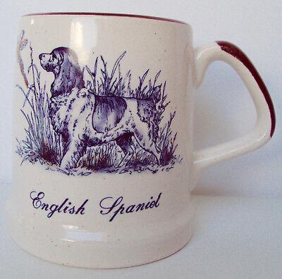 Breed Collectible Mug Cup English Spaniel bird dog Enesco Coffee Stoneware