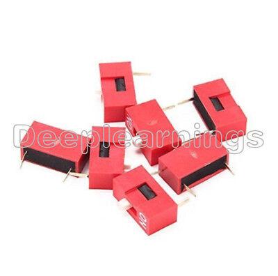 10pcs Slide Type Switch Module 1-bit 2.54mm 1 Position Way Dip Red Pitch