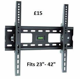 "New Brateck High Quality TV Wall Bracket. Fits 23"" - 42"" Flat & Curved TV's, monitors, etc,"