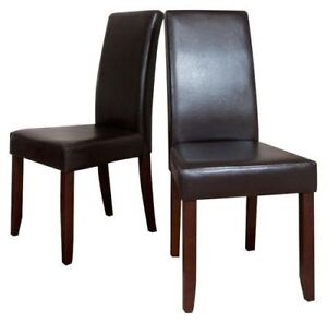 Chairs Parson (2-Pack) - Dark Brown (NEW)$65