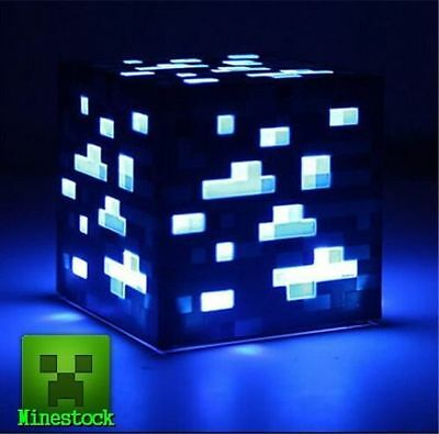 Minecraft Diamond Ore Light Up Night Light Blue Light-Up Birthday XMAS Gift TOY