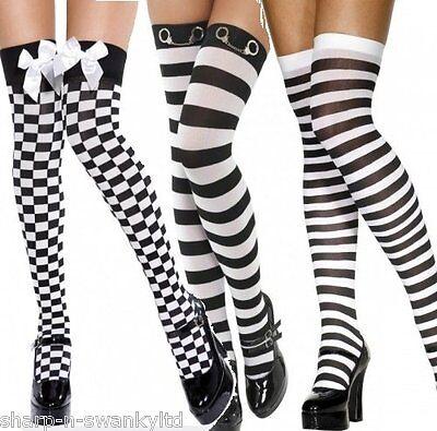 Gestreifte Socken Overknee Kostüm Kostüm Halloween Wally Bee Schule Tanz