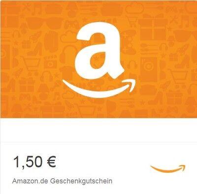 Amazon 1,50 € Gutschein Code Gutscheincode Einkaufsgutschein Voucher Coupon