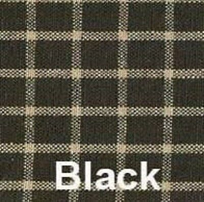 "Williamsburg Check Panel Set with Tiebacks, 86""L Black"