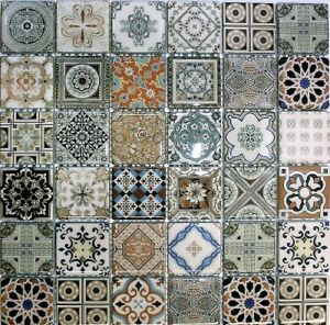 Designer Mosaic Backsplash tile mirror glass marble tiles