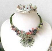Jade Flower Necklace
