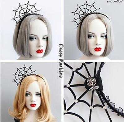 Adult Vampire Witch Ghost Spider-Net Headband Halloween Costume Accessories