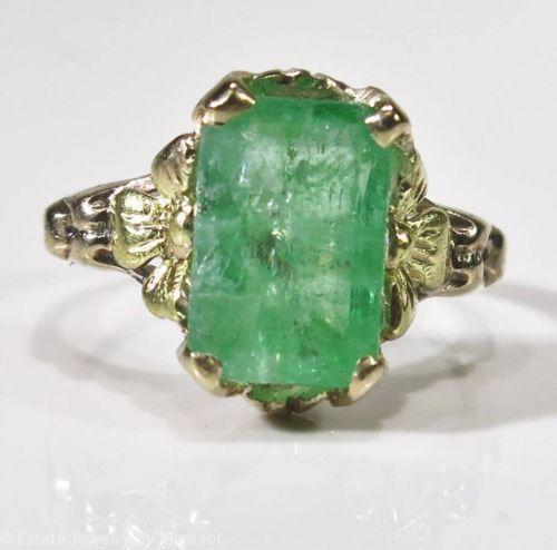 antique emerald jewelry ebay