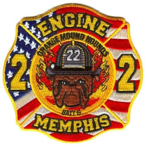 Memphis Fire Department Engine 22 Battalion 6 Patch Tennessee TN