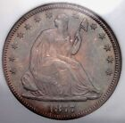 Uncirculated 1877 Year Seated Liberty Half Dollars (1839-1891)