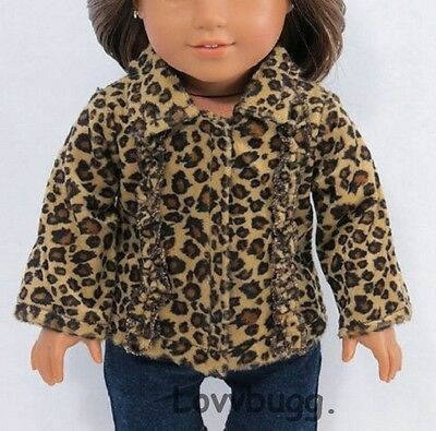 "Ruffle Leopard Jacket Coat for 18"" American Girl Doll Clothes"